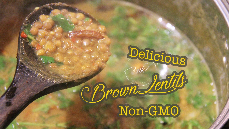 Small Brown Lentils Recipe | NON-GMO | Vegetarian