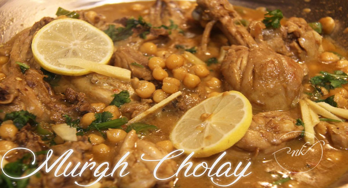 Murgh Cholay   Chicken With Chickpeas/Garbanzo Beans  